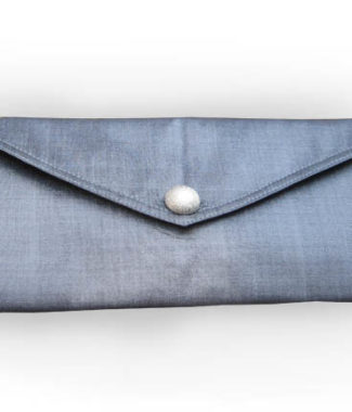 silver silk envelope for wedding and jewelry