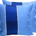 Royal blue Thai silk cushion cover