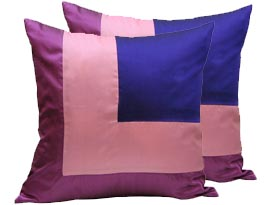 Thai silk cushion for contemporary home decoration