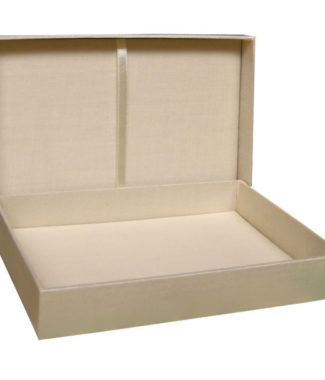 cream color wedding box