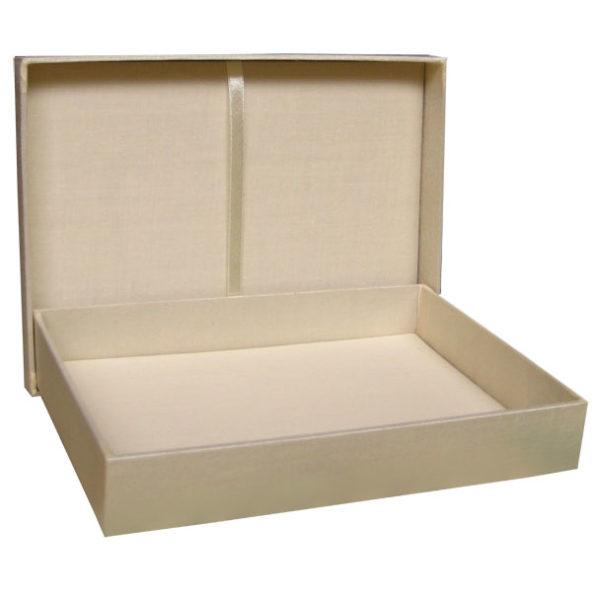 cream color wedding box