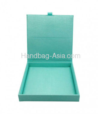 silk wedding box in aqua blue