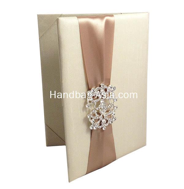 Luxury Dupioni Silk Wedding Invitation Folio