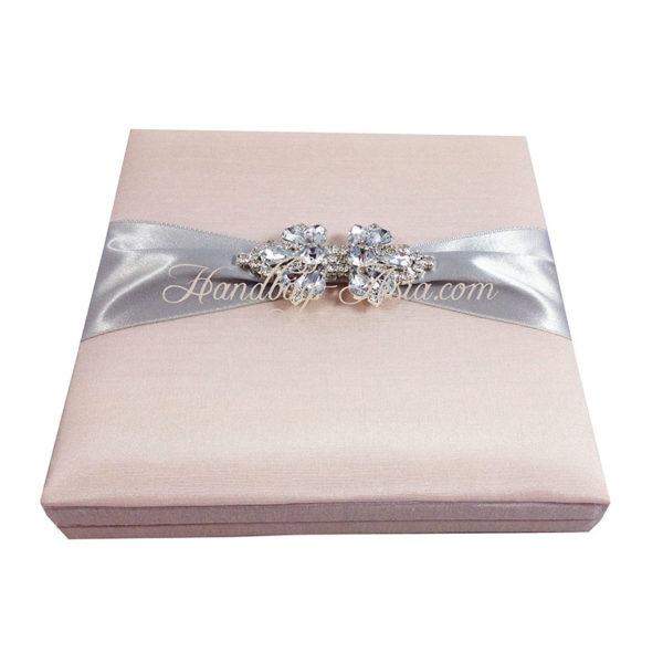 blush pink wedding box
