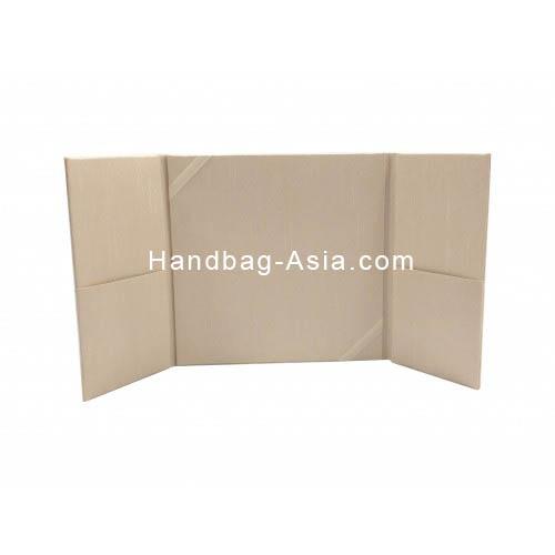 Ivory dupioni silk wedding folder