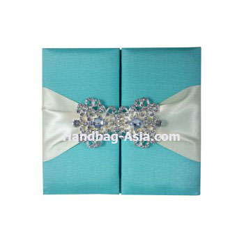 aqua blue luxury wedding invitations