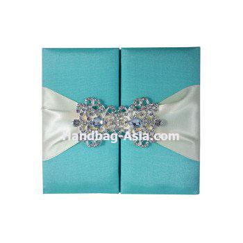 aqua blue luxury wedding invitations