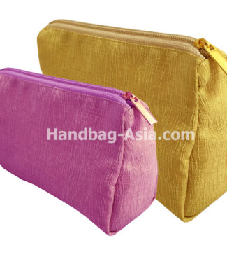 Thai silk cosmetic bags