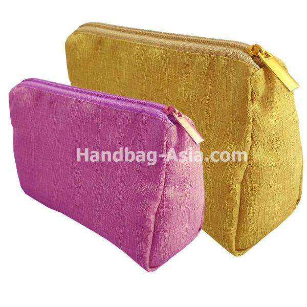 Thai silk cosmetic bags