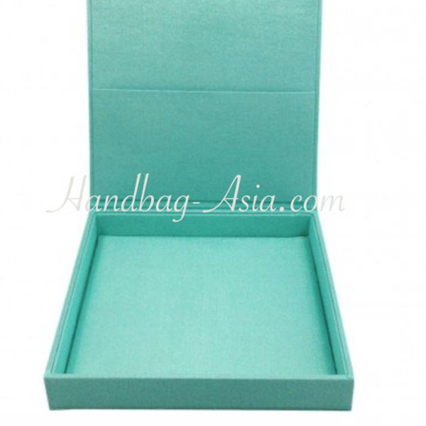 aqua blue hinged lid wedding box