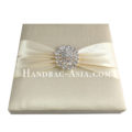 dupioni silk boxed wedding invitation