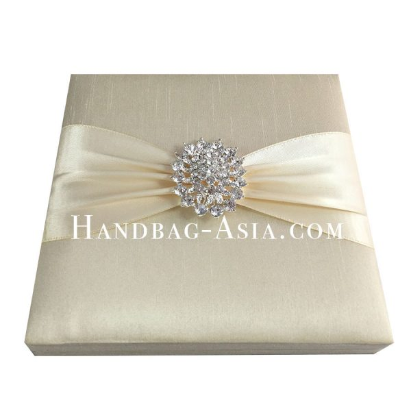 dupioni silk boxed wedding invitation