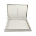 hinged lid plain dupioni silk box