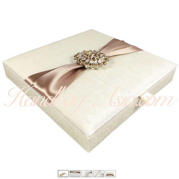 velvet box with crystal brooch