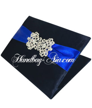 midnight blue velvet book folder