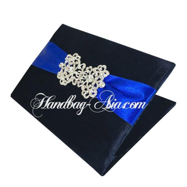midnight blue velvet book folder
