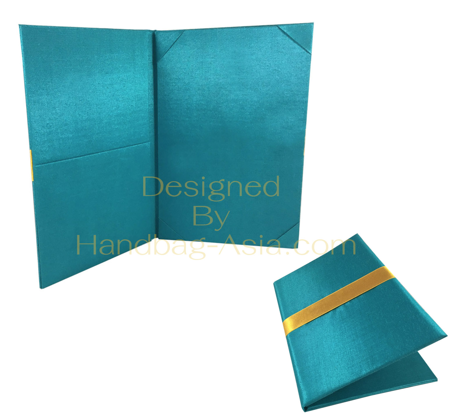 Wedding Invitation Folders With Pocket: Teal Pocket Folder With Pockets For Invitation Cards