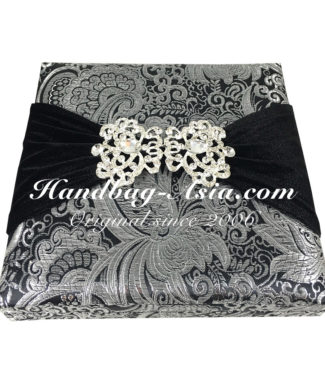 brocade wedding box with embellishment