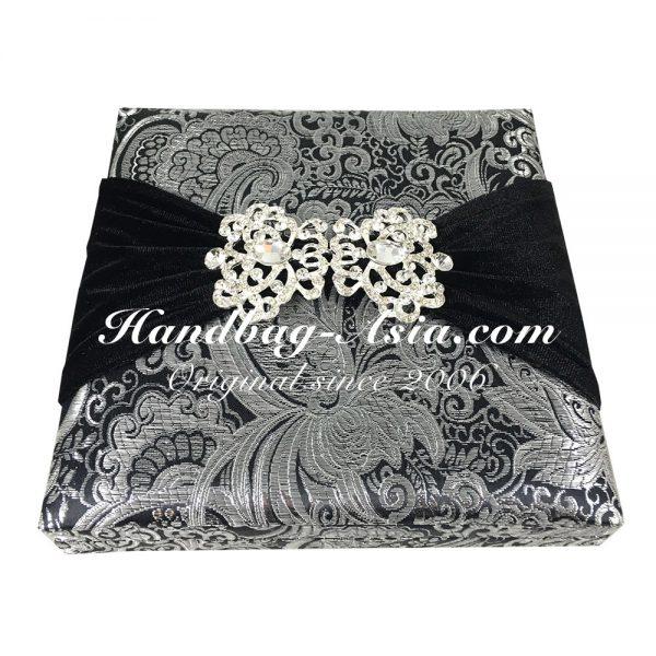 brocade wedding box with embellishment