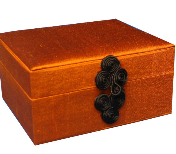 Chinese silk box