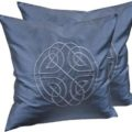Embroidered silk cushion cover