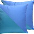 Aqua & tiffany blue silk cushion cover