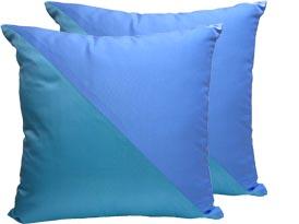 Aqua & tiffany blue silk cushion cover