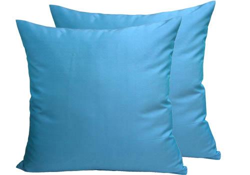 Modern Aqua silk pillow cover