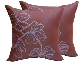 printed silk cushion cover from chiang mai, Thailand