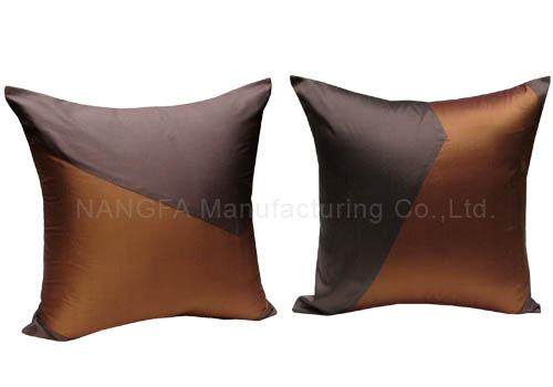 Brown Thai silk pillow cover