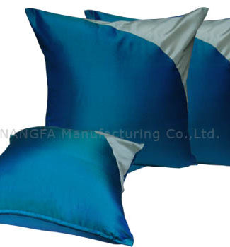 Teal color silk pillow cover for home decor