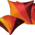 Modern orange silk cushion cover from Thailand