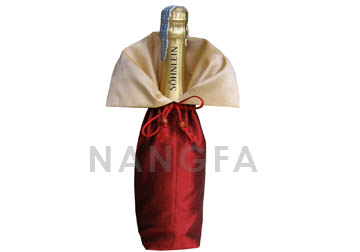 Thai silk wine bottle bag