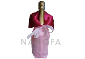 satin wine bottle bag
