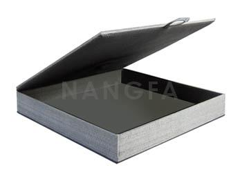 silver wedding invitation box
