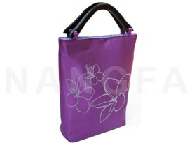 silk bag with lilawadee flower print