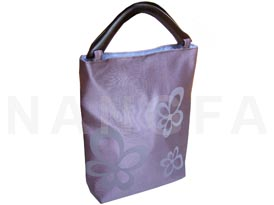 Printed Thai silk handbag