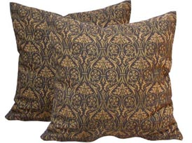 brown cotton cushion cover