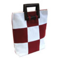 thailand cotton handbag with wooden handle