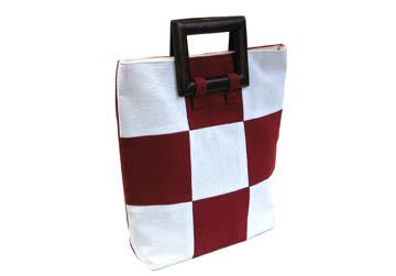 thailand cotton handbag with wooden handle