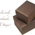 brown silk gift box