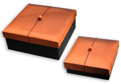 Thai silk gift box in oriental design