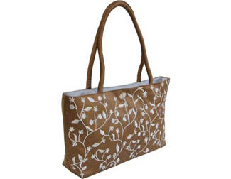 Embroidered Silk Handbag