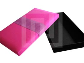 Pink Thai silk packaging box for gift and corporate