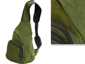 green hemp body bag