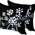 silk cushion cover with print