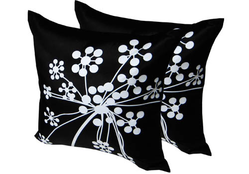 silk cushion cover with print