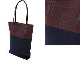 hemp shoulder bag with handle