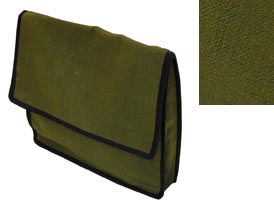 green hemp notebook bag