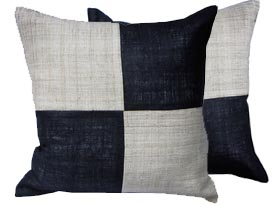 chess pattern hemp cushion cover